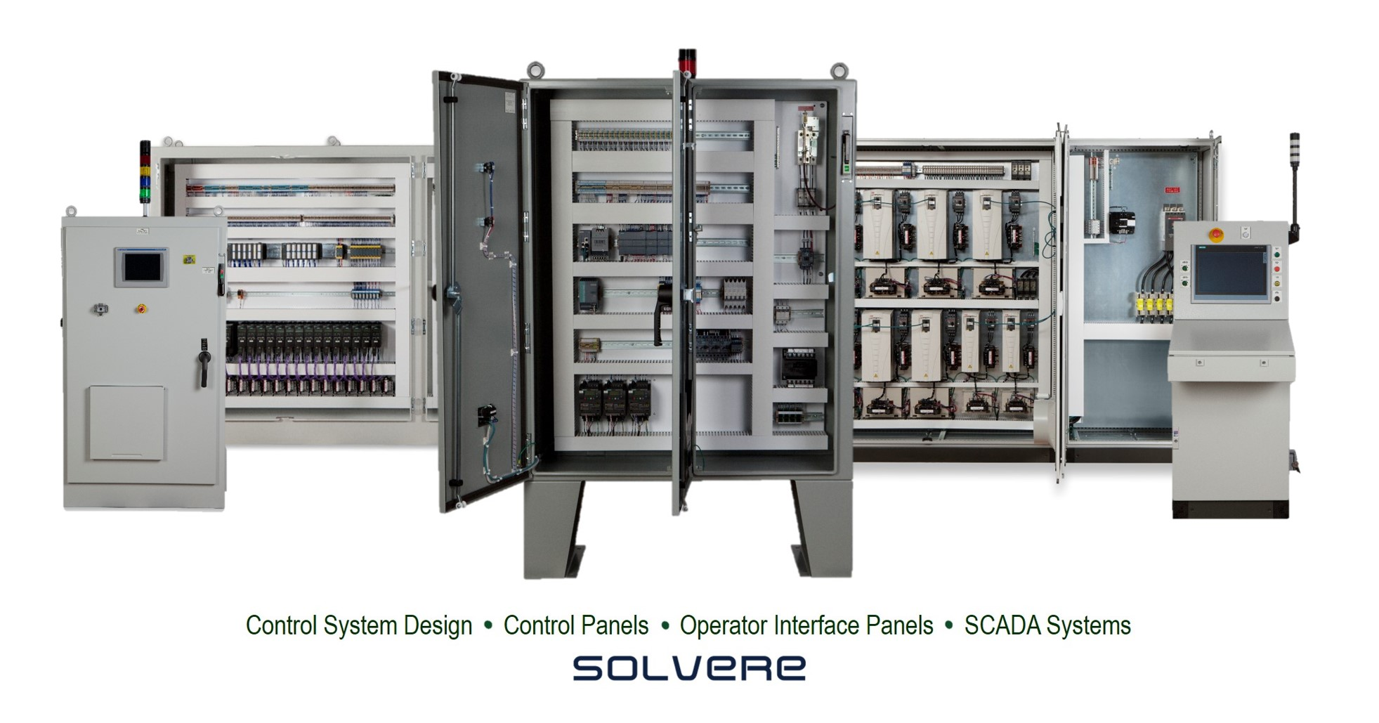 Control System Design, Control Panels, Operator Interface, SCADA Systems